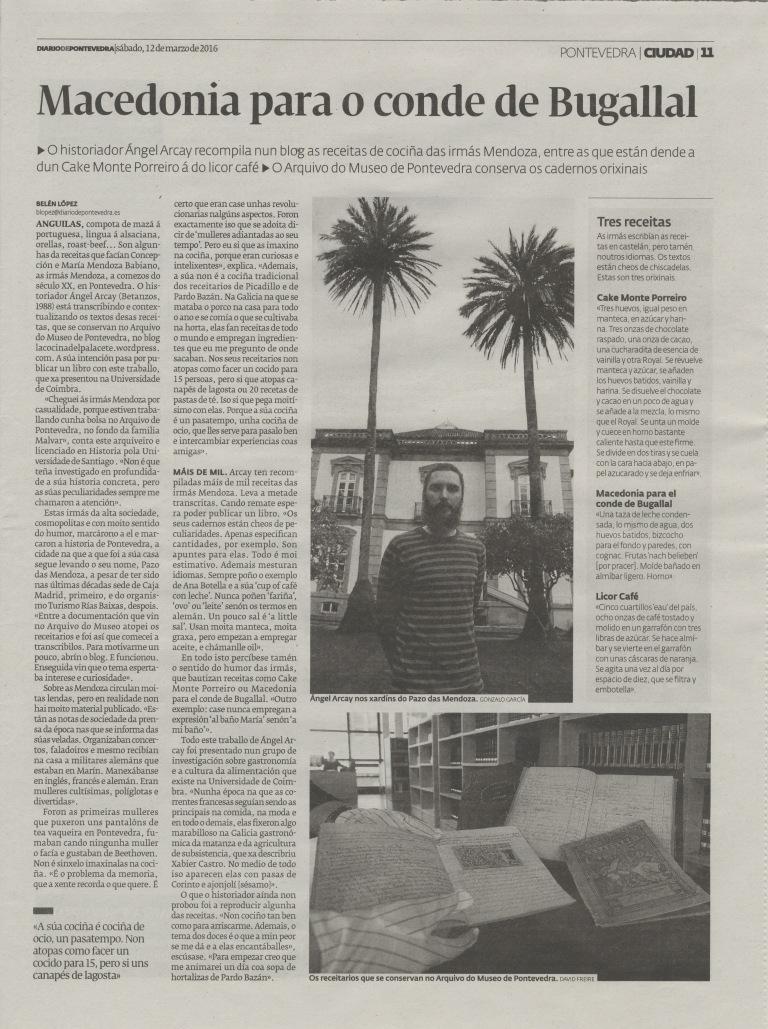 Entrevista Anxo Arcay_Diario de Pontevedra_20160312